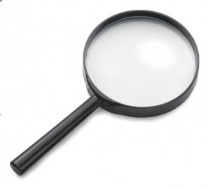 Detectives kunnen niet zonder vergrootglas